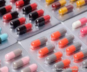 Medikamententablette und -kapsel Antibiotika in Blisterpackungen