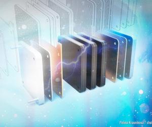 Brennstoffzelle 3D-Illustration